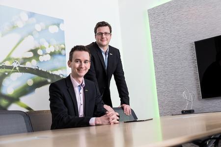 Dr. Daniel Schulten und Thomas Golatta, Gründer und Vorstände der netzkern AG, verbuchen 2015 ein Umsatzplus von 45 %