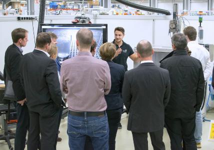 Die Live-Demonstrationen im Technologie- und Anwendungszentrum von Scheugenpflug stießen bei den Besuchern auf großes Interesse