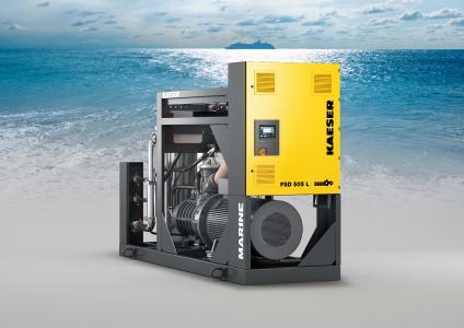 Die FSD ist die kompakte Druckluftstation für den maritimen Einsatz. Mit einer Breite von nur etwas mehr als einem Meter und einer Gesamtaufstellfläche von nur 4,1 m² findet sie nahezu überall Platz und ist trotzdem zuverlässig, leistungsstark und energieeffizient