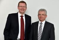 Dr. Michael Berger (links) und Max Ertl, DocuWare-Geschäftsführer
