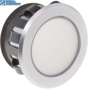 LED Snap-In-Spot Luxofix from Signal-Construct, frosted chromium plated.