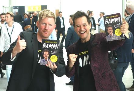 Marcus Bond und Dietmar Dahmen bei Buchpremiere von Transformation BAMM auf der Dmexco