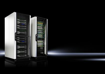 The new VX IT rack is a solution that can be used anywhere. It is available in a modular format for even greater freedom for the rapid deployment of data centres / Source: Rittal GmbH & Co. KG