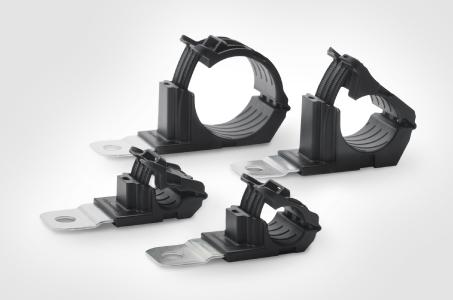 Ratchet P-Clamps in four sizes – range 6.2 mm to 51.0 mm diameter.