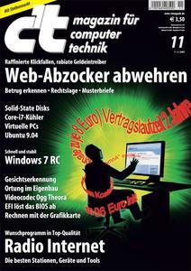 Das Titelbild der aktuellen c't-Ausgabe 11/2009