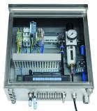 Die anschlussfertigen Komplettsysteme im Hygienic Design mit allen benötigten fluidischen und elektrischen Komponenten lassen sich jetzt noch einfacher an die spezifischen Anwendungsanforderungen anpassen / Quelle: Bürkert Fluid Control Systems