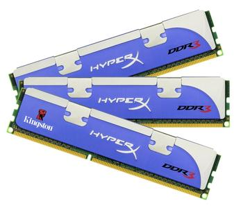 Kingston Technology mit 2GHz HyperX DDR3 Triple Channel Speicher
