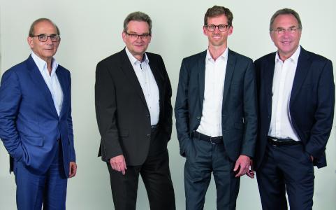 The new ISRA VISION management team (from right: Hans Jürgen Christ, Tomas Lundin (speaker)