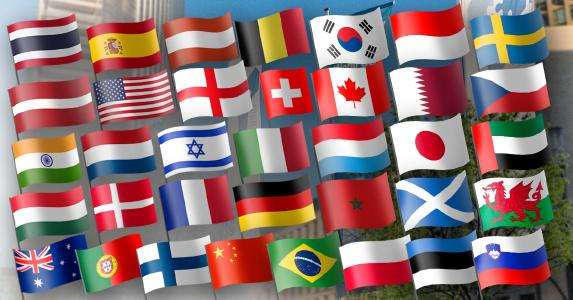 European Chemistry Partnering flags nations 3rd ECP