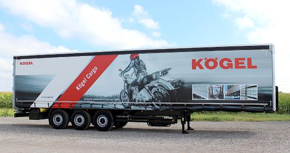 Transport Compleet 2017, Hardenberg: Kögel presents the Benelux version of the Cargo with ro-ro equipment (Photo: Kögel Cargo)