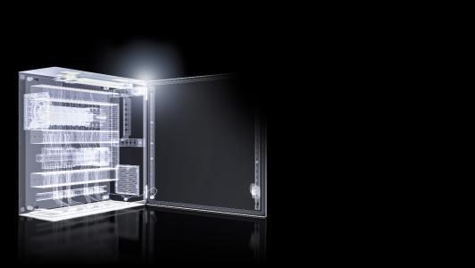 Für alle neu auf den Markt kommenden Systeme, wie die Kompakt-schaltschränke und Kleingehäuse AX und KX oder den Schalt-schrank VX25, stellt das Unternehmen sowohl Eplan Makros als auch 3D-Konstruktionsdaten zur Verfügung (Quelle: Eplan Software & Service GmbH & Co. KG)