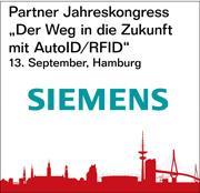 """Siemens ist Partner des Jahreskongresses """"Der Weg in die Zukunft mit AutoID/RFID"""""""