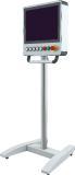 Mit dem neuen mobilen Standfuß wird die die Bedienung von Maschinensteuerungen nun noch flexibler. Für den verbesserten Zugang zur Steuerung wurde der Standfuß für das profiPLUS System jetzt noch filigraner ausgeführt, Bild: ROLEC Gehäuse-Systeme GmbH