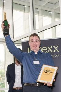 Jörg Gottschling is pleased about the title of Intrexx Partner of the Year, © United Planet GmbH
