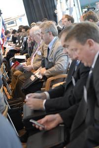 Aufmerksame Zuhörer auf dem RFID Anwendertag 2007