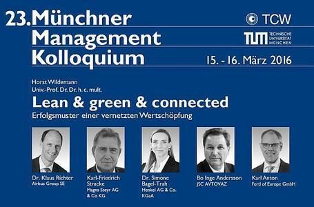"""Wie meistern erfolgreiche Firmen die """"Herausforderung Industrie 4.0""""? / TCW Transfer-Centrum für Produktions-Logistik und Technologie-Management GmbH & Co. KG"""