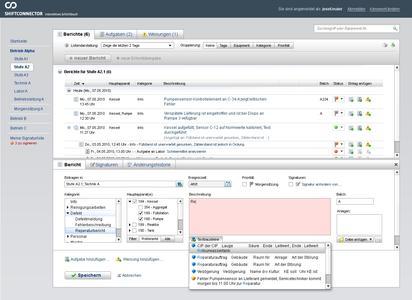 Automatisierte Datenerfassung: Autovervollständigung und vordefinierte Textbausteine erleichtern in Shiftconnector das Erfassen der Ereignisse