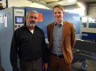 Bild 2: Geschäftsführer Egon Ballweg, Sebastian Häfele, Marketing LISSMAC (v.l.n.r.)