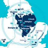 Map East Midlands