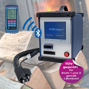 The newly developed AFRISO STM 225 dust measuring instrument is used to measure particulate matter emissions of solid-fuel combustion systems. In conjunction with the MULTILYZER NG flue gas analyser, it is a high-end measuring system for all measuring tasks at solid fuel, oil fired and gas fired systems