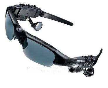 Sonnenbrille mit MP3-Player, schwarz