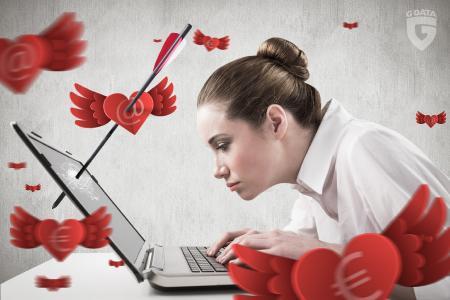 G DATA warnt vor Cybercrime-Maschen zum Tag der Liebenden und gibt Security-Tipps