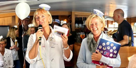 IFM-Geschäftsführung mit Angela Jahnkow (links) und Annina Quitter (rechts)