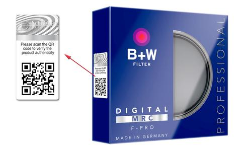 Schneider-Kreuznach has extended the function of its safety labels on B+W filters.