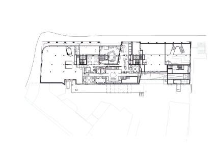 Grundriss EG mit Shopping- und Fitnessflächen. Bild: Turmcarrée Grundstücksgesellschaft mbH & Co. KG