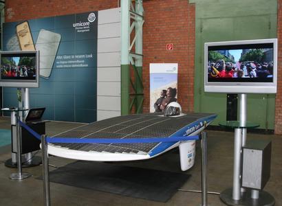 Präsentation des Solarautos Umicar Infinity während der Technology Days in Hanau-Wolfgang
