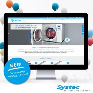 Neue Systec Webseite ist online