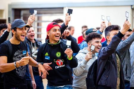 Die Schüler beim Future Day hatten riesigen Spaß