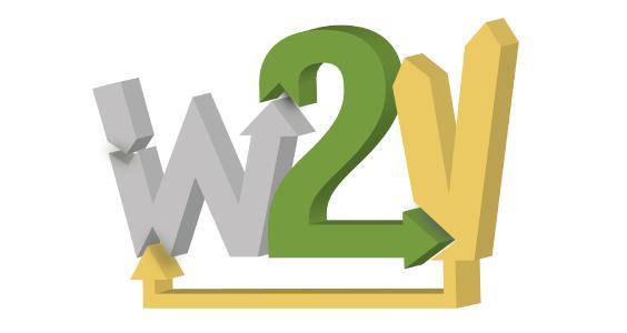 """Logo """"Waste to Value - Mikroorganismen verändern die Westpfalz (W2V)"""""""