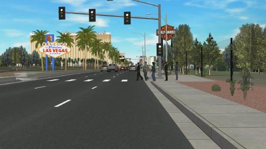 """Auf der CES präsentierte Demonstration, basierend auf Pro-SiVIC™. Besucher konnten neue automatische Funktionen, die ins Fahrzeug eingebaut wurden, bei einer """"Fahrt"""" durch Las Vegas erleben"""