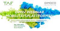 ÖPNV Webinar TAF zum Thema Mobilitätsplattformen