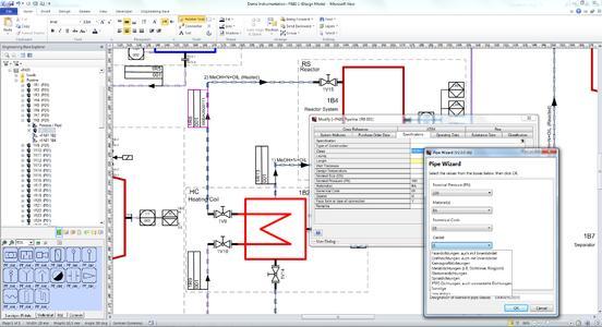 Assistent zur Rohrklassendefinition in Engineering Base, Bild (Aucotec)