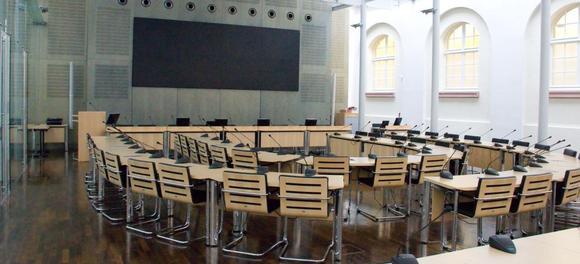 Der neue Sitzungssaal im Rathaus der Stadt Heidelberg