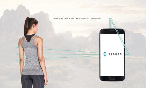 Innovatives Sensor-Shirt von 8sense gegen Rückenleiden