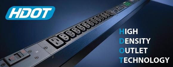 HDOT PDU power strips offer up to 42 C13 connections in a single row with a length of 42U.