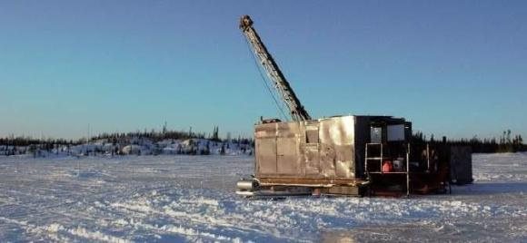 Figure 1. Drilling at Frotet project, Quebec