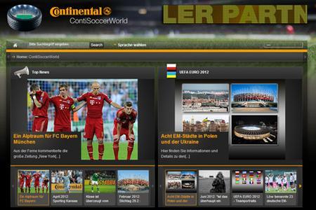 Offizieller Sponsor Continental berichtet auf ContiSoccerWorld.de über die UEFA EURO 2012(TM)