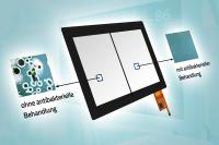 MSC Technologies offers antibacterial glass cover lenses for up to 17.0-inch (43.18 cm) displays from Evervision