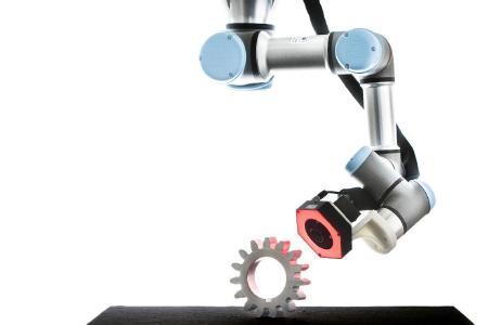 Demo-System: Optische Kontrolle komplexer Produkte mit dem Ziel, die komplette Inspektionsumgebung zu simulieren / ©Fraunhofer ITWM