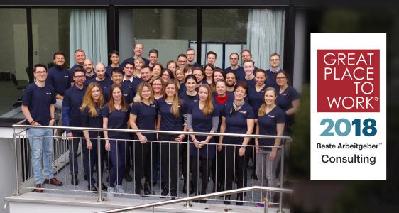 Mitarbeiter der CINTELLIC Consulting Group bei der Jahres-Kick-Off-Veranstaltung 2018