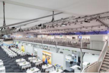Der Cateringbereich erstreckte sich auf 2 Ebenen mit einer  Gesamtfläche von ca. 4.500 m²