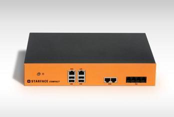 Die neue Appliance STARFACE Compact unterstützt leistungsstarke Business-Telefonie für ISDN-, SIP-, NGN- sowie analoge Umgebungen und richtet sich vorrangig an kleine und mittelständische Unternehmen