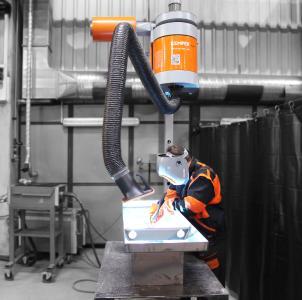 W3-zertifiziert: Dank der IFA-Zulassung eignet sich MaxiFil stationär von KEMPER nun auch für das Schweißen von Chrom- und Nickelstählen / Foto: KEMPER GmbH