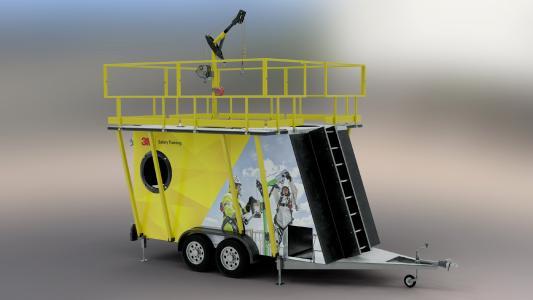 Die neue mobile Trainingseinheit ermöglicht Übungseinheiten flexibel und nahezu an jedem Ort / Foto: 3M