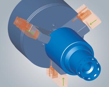 Mit hyperCAD®-S Spannmittel komfortabel positionieren. Foto: OPEN MIND