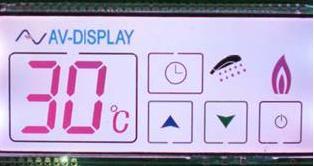 Dank FSC-Technik (Field Sequencial Colour) erscheinen einzelne LCD-Segmente in bis zu acht verschiedenen Farben, sodass das Display wesentlich eindrucksvoller wirkt